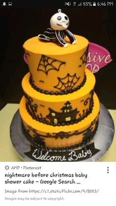 Nightmare Before Christmas Cake Baby Shower