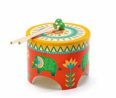 Djeco-Kids Wooden Toys-Floor Drum