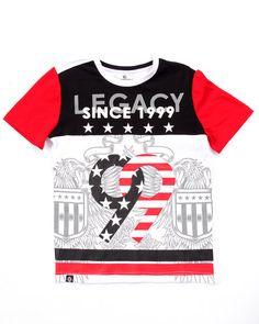 outlet store a4509 906cf Akademiks - LEGACY TEE (8-20) Kids Shorts, Kids Fashion Boy,