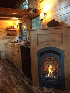 SimBLISSity Tiny House Builders Design Gorgeous Stone Cottage in Colorado Tiny House Cabin, Tiny House Living, Tiny House Plans, Tiny House On Wheels, Cottage House, Tiny House Builders, Tiny House Design, Stone Cottages, Tiny Spaces