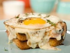 "I saw this recipe on the Cooking Channel on, ""Brunch at Bobby's"". It's looked so good!!!  Croque Madame : Recipes : Cooking Channel"
