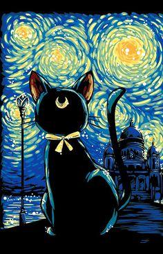 Luna / Van Gogh's Starry Night = awesome!