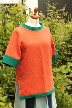 Yet another blouse made from an orange tablecloth