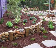 Jardim com Pedras (Fotos, Flores, Pedras, Ornamentais)