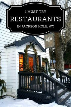 Discover 4 must try restaurants in Jackson Hole, Wyoming, including a brewpub and a steak and game house. Eat your way across Jackson Hole! Wyoming Vacation, Yellowstone Vacation, Vacation Trips, Vacations, Vacation Ideas, Yellowstone Park, Tennessee Vacation, Vacation Spots, Honeymoon Ideas