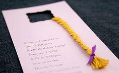 rapunzel birthday party invitation ideas