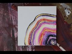 AGATE Inspired ABSTRACT PAINTING TECHNIQUE Acrylic Craft Paint - YouTube