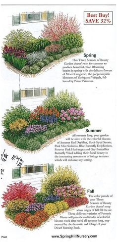 Flower Garden Layouts, Flower Garden Plans, Flower Garden Design, Flower Gardening, Flower Bed Designs, Garden Planting Layout, Planting Plan, Garden Cottage, Garden Beds
