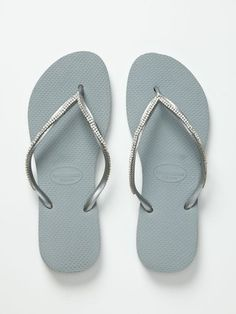 fded93d0c83b Customized Crystal Applique Flip Flops by Havaianas at Gilt