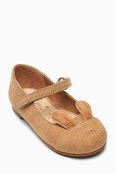 Tan Bunny Ears Mary Jane Shoes (Younger Girls)