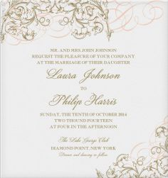 Delicate Ornament - Wedding cards