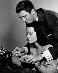 Hedy Lamarr and James Stewart in Come Live With Me, 1941
