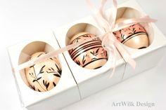 Trzy pisanki kacze ozdobnie pakowane - Artwilk