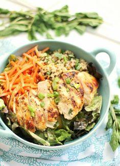 Low FODMAP & Gluten free Recipe - Lemony roast chicken quinoa www.ibssano.com/...