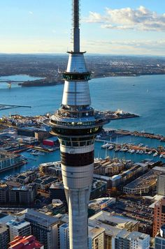 Auckland's Sky Tower is worth a trip if you're visiting New Zealand. Tourists & locals can dine in Orbit 360 while viewing the city. Visit New Zealand, New Zealand Travel, Backpacking Europe, Places Around The World, Travel Around The World, New Travel, Travel Plan, Travel Advice, Travel Ideas