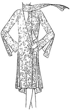 Past Patterns: #6340: Ladies' and Misses' Beach Negligee: Circa 1929-1930