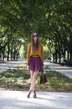 Throwback burgundy and mustard outfit Dentelle+Fleurs