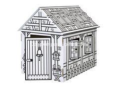 1000 images about on fait une cabane on pinterest zara - Cabane en carton a colorier ...