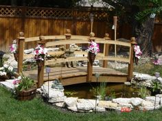 how to build a backyard pont with garden bridge - Google Search