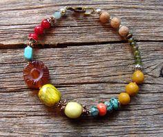 Beaded Bracelet OOAKCarnival by lstaubin on Etsy, $15.00