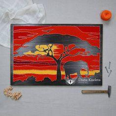 """242 отметок «Нравится», 31 комментариев — String Art by DianaKiseleva (@diana_di_kiseleva) в Instagram: «Ой, сегодня хотела рассказать про картину """"африка"""" и ее историю, но видимо потом. . А пока я хочу…»"""