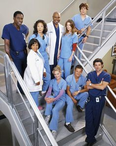 Grey's Anatomy March 2005 – present // A drama centered on the personal and professional lives of five surgical interns and their supervisors. Stars: Ellen Pompeo, Sandra Oh, Justin Chambers Greys Anatomy Season 1, Greys Anatomy Cast, Greys Anatomy Shooting, Greys Anatomy George, Greys Anatomy Characters, Justin Chambers, Derek Shepherd, Patrick Dempsey, Meredith Grey