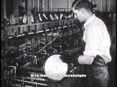 HISTORY OF VINYL RECORDS #1 - The 78 RPM Single. Manufacturing plant RCA - YouTube