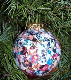 Photo Album Ornament Tutorial ... How cute is this?  GREAT Grandma/Grandpa gift!