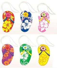 Cabana Cruisin' Flip-Flop Luggage Tags