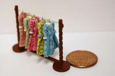 Ladies 1 48 Quarter Scale Set of 5 Dresses with Dress Rail Handmade OOAK Set | eBay