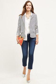 Regular Dark Low Capri, Cropped 25 in. Jeans for Women Capri Jeans, Jean Capri Outfits, Ag Jeans, Work Fashion, Denim Fashion, Designer Jeans For Women, Anthropologie Clothing, Knit Blazer, Weekend Wear
