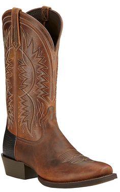 Ariat Troubadour Men's Powder Brown Punchy Square Toe Western Boots | Cavender's