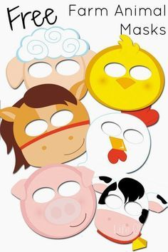 Free Farm Animal Mask Printables. Great for pretend play and just having fun in the classroom!
