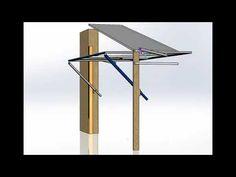 """Подъемно-поворотные ворота без направляющих, на четырех рычагах, """"Z-сист... Steel Doors, Wind Turbine, Youtube, Offices, Youtube Movies"""