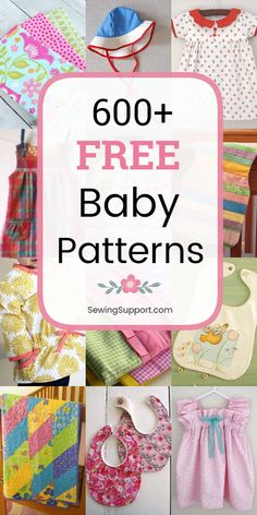 Free Baby Patterns, Baby Dress Patterns, Baby Clothes Patterns, Sewing Patterns Free, Burp Cloth Patterns, Clothing Patterns, Baby Wallpaper, Baby Sewing Projects, Sewing For Kids