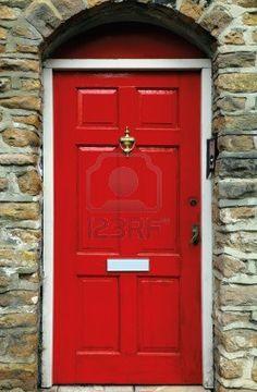 red english door