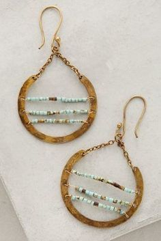 Roost Turquoise Ladder Hoops #anthroregistry