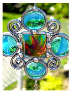 Stained Glass Suncatcher - We