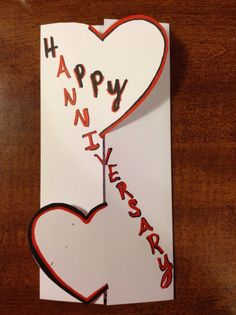 anniversary cards for parents handmade
