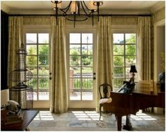 French Door Window Treatments - for more French Door Curtain Ideas visit www.homeizy.com/french-door-curtain-ideas/