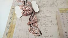 Pink embroidered flower lace trim, for craft projects, pink and black lace trim, 1 yard. More Than One, Etsy Crafts, Flower Making, Junk Journal, Embroidered Flowers, Color Mixing, Lace Trim, Craft Projects, Fiber