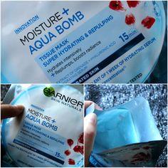 TEST: Garnier - Moisture and Aqua Bomb - hydratačná maska - KAMzaKRÁSOU.sk