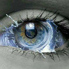 NICE eye art peace and love sir francis Pretty Eyes, Cool Eyes, Beautiful Eyes, Blue Drawings, Art Drawings, Ying Y Yang, Eyes Artwork, Aesthetic Eyes, Crazy Eyes