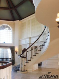 Traditional staircase &  Foyer...