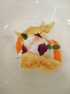 Panna cotta e gelato allo squacquerone, agrumi e polenta croccante. #pannacotta #nostranopesaro #cartanostrano