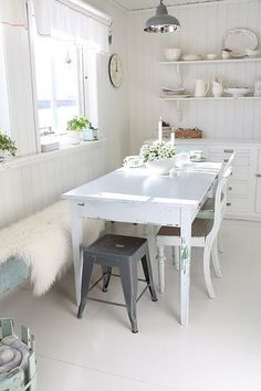 lovely room design home design decorating before and after design Swedish Kitchen, Kitchen White, Casa Retro, Sweet Home, Vibeke Design, House Design Photos, Custom Home Designs, White Rooms, Interior Design Kitchen
