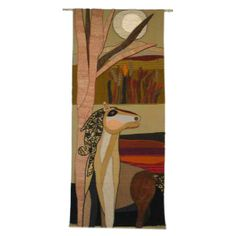 A Tapestry of a Horse by Helen Webber | From a unique collection of antique and modern tapestries at http://www.1stdibs.com/furniture/wall-decorations/tapestry/ 	 A Tapestry of a Horse by Helen Webber  PRICE:	 Price Upon Request COUNTRY:	USA DATE OF MANUFACTURE:	1970's  HEIGHT:	6 ft. 8 in. (203 cm) WIDTH:	35 in. (89 cm)