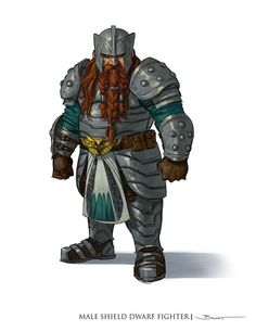Dungeons and Dragons 5th Edition Conceptual art Male Shield Dwarf Fighter
