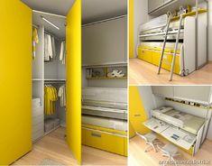 Camerette per bambini e ragazzi Moretti Compact - DIOTTI A&F Arredamenti Ideas Habitaciones, Folding Beds, Single Bedroom, Kids Room Design, Kid Beds, New Room, Kids Bedroom, Locker Storage, House