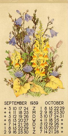 1939 ¤ September October 1 calendar, 6 leaves : col. ill. ; 39 x 20 cm. Créateur: Voerman, Jan, Jr. ( illustrator ) Sissingh, C.H., Jr. Editeur: N.V. de Nieuwe Toonkamers